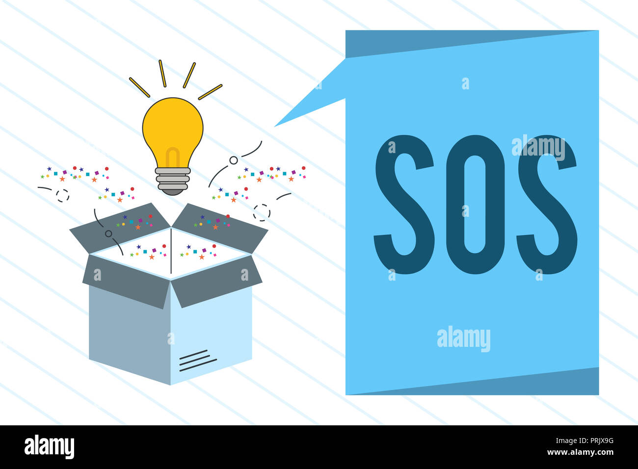Word writing text Sos. Business concept for Urgent appeal for help International code signal of extreme distress. - Stock Image