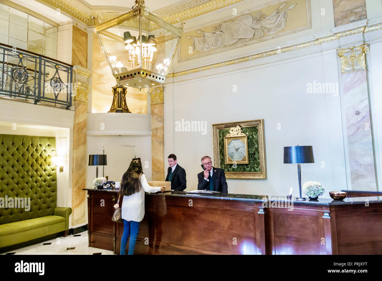 Luxury Hotel Lobby Front Desk Stock Photos & Luxury Hotel ...