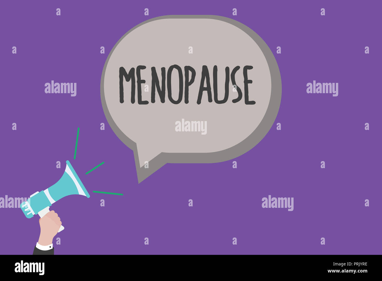 Handwriting text Menopause. Concept meaning Cessation of menstruation Older women hormonal changes period. - Stock Image