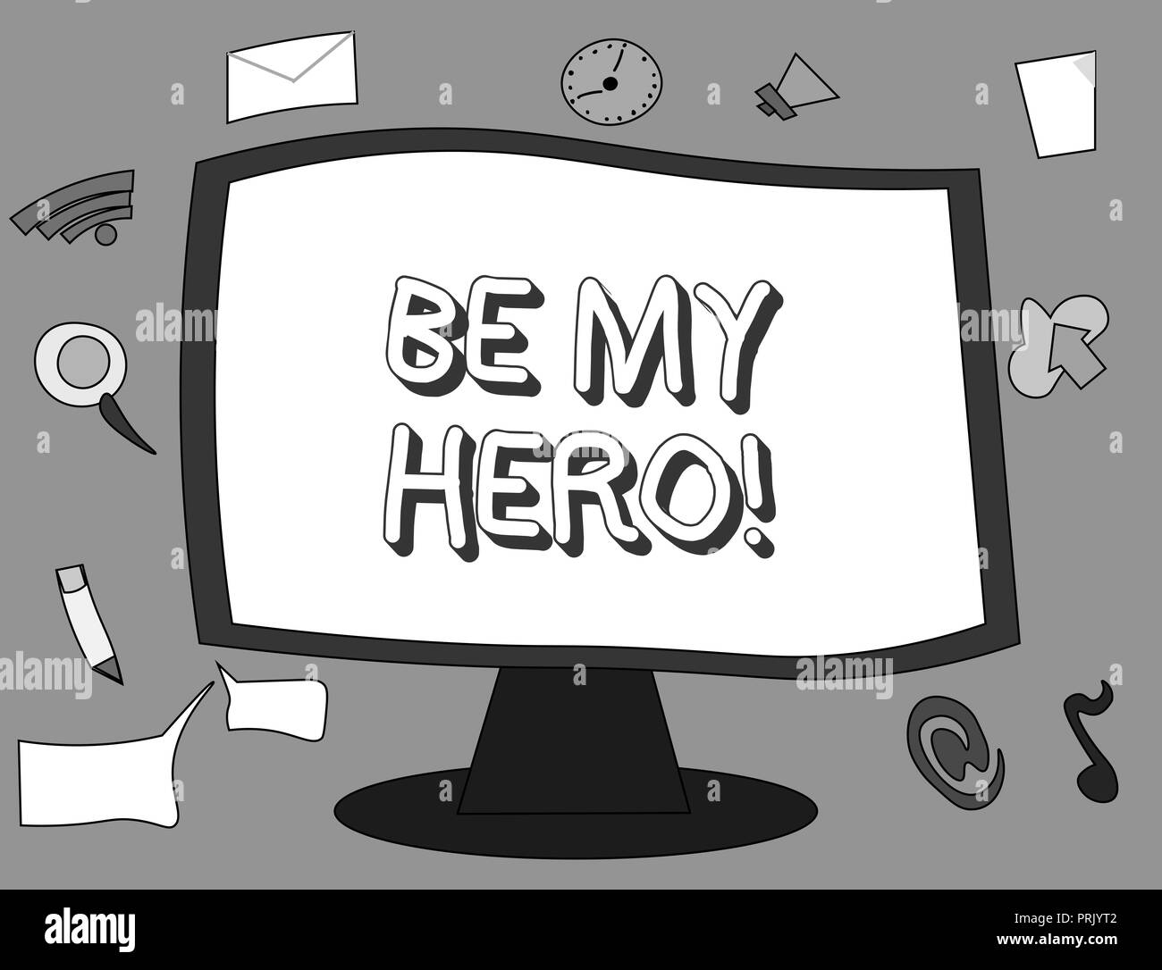 Word writing text Be My Hero. Business concept for Request by someone to get some efforts of heroic actions for him. - Stock Image