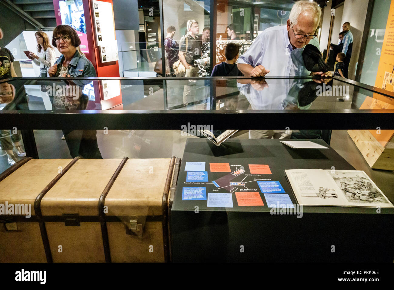 London England United Kingdom Great Britain Southwark Imperial War Museum military war weapons archives inside interior exhibit artifact display man l - Stock Image