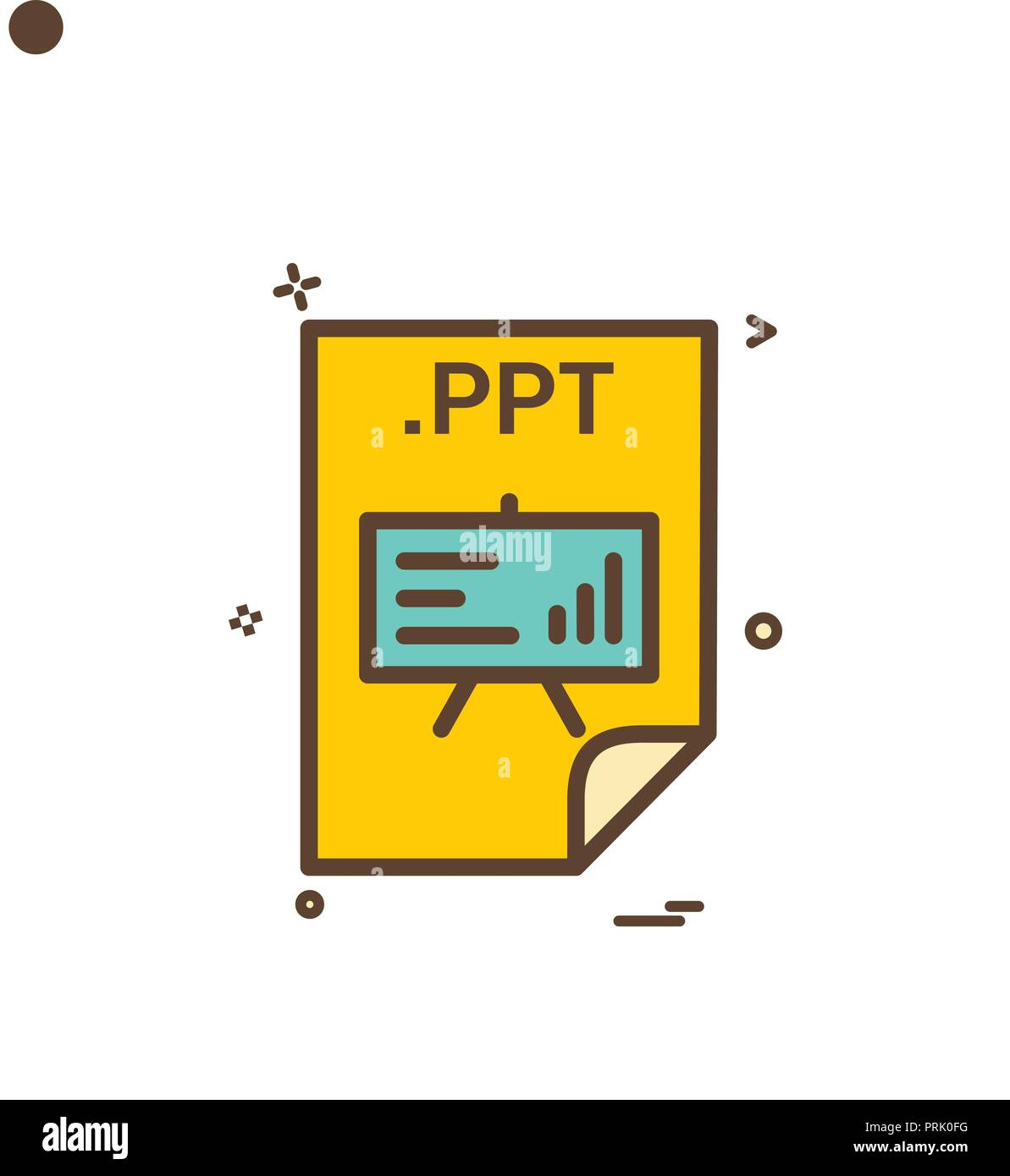 ppt application download file files format icon vector design stock