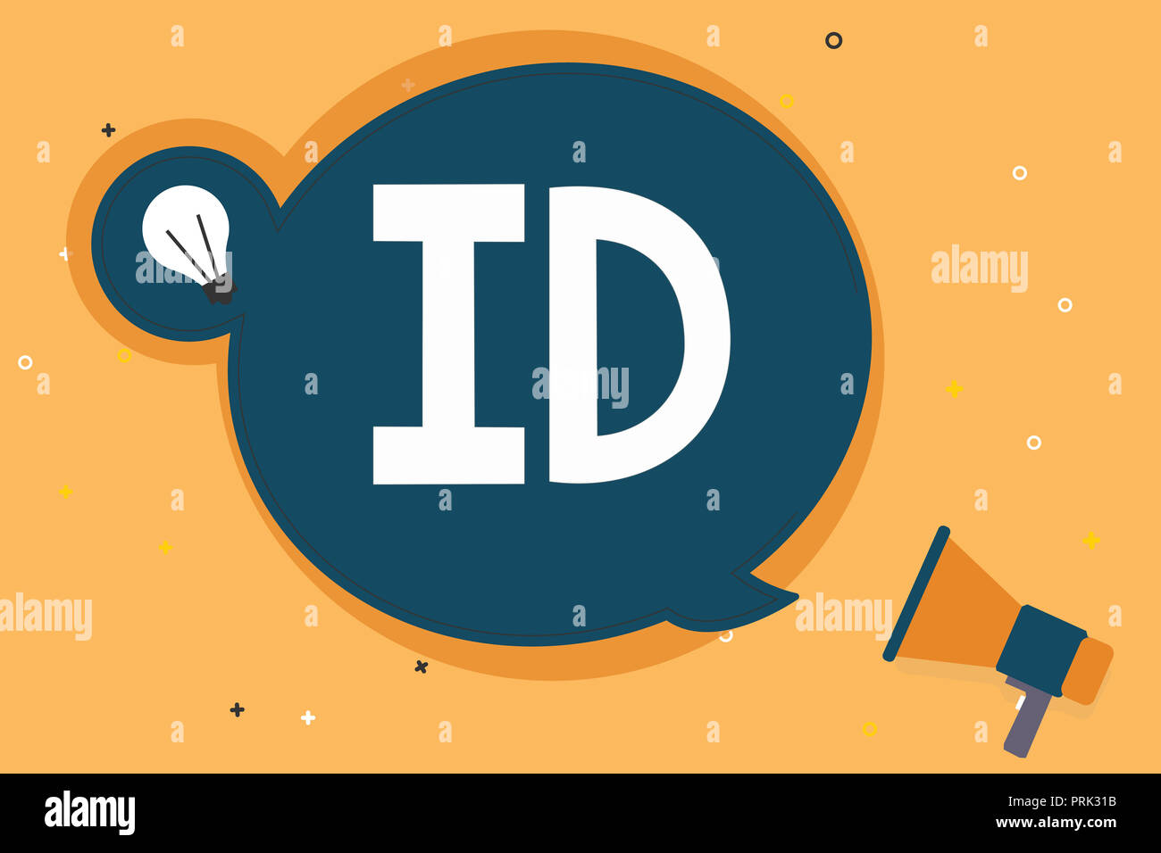 Handwriting text Id  Concept meaning A card or document that