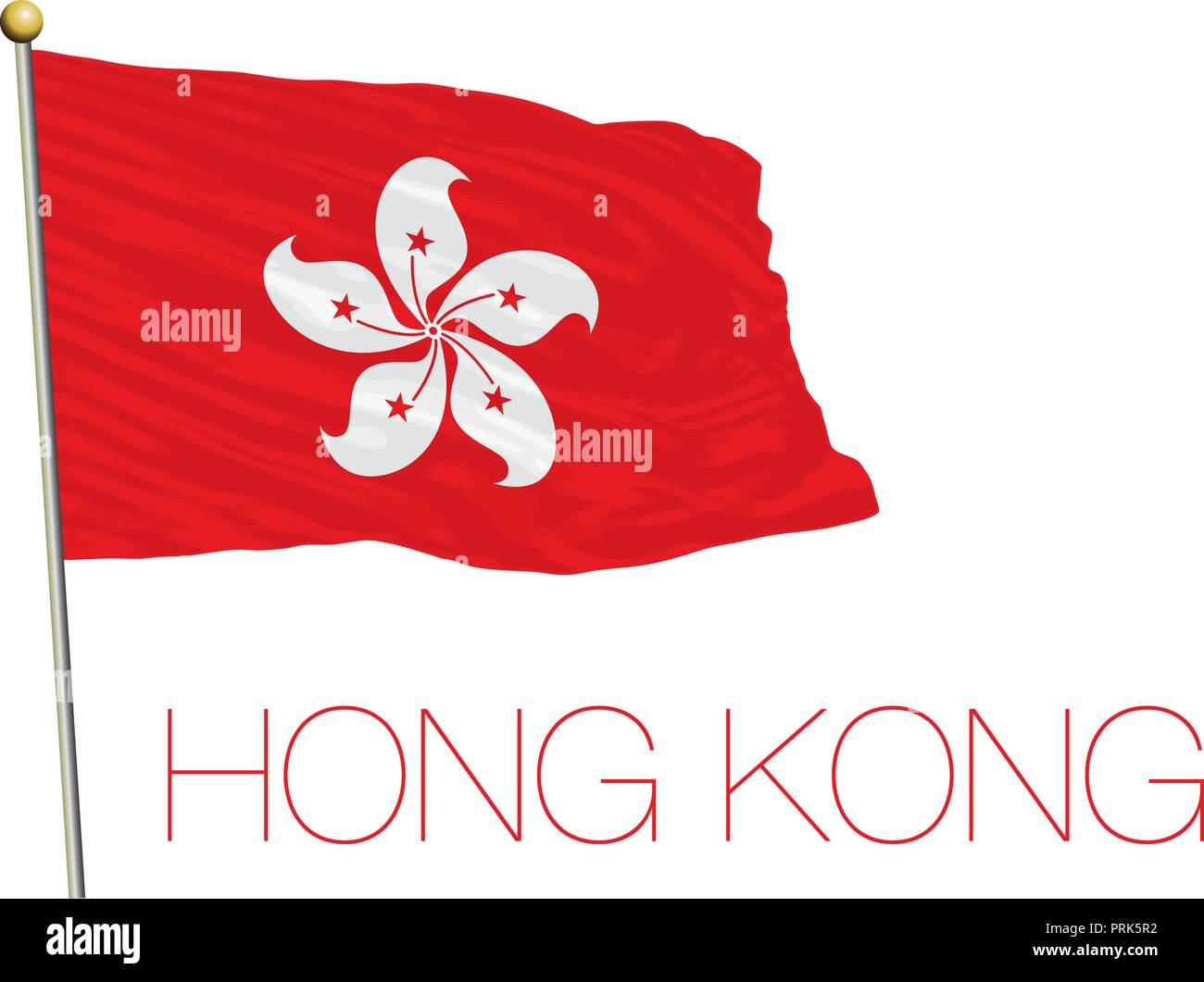 Hong Kong official flag, vector illustration - Stock Vector