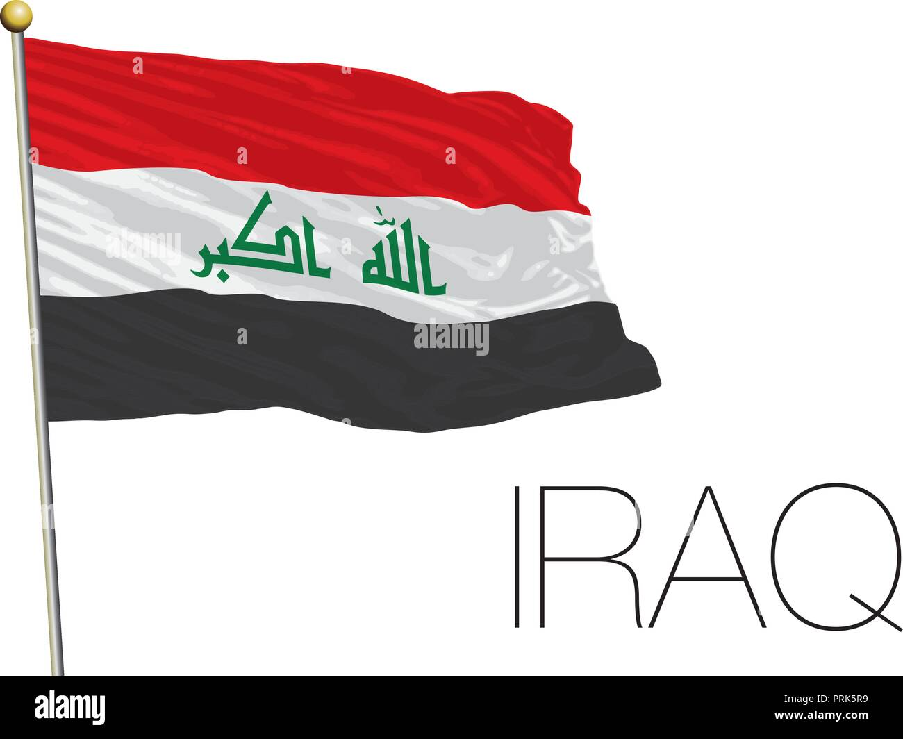 Iraq official flag, vector illustration - Stock Image