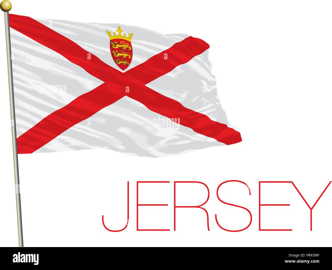 Jersey official flag, vector illustration - Stock Vector