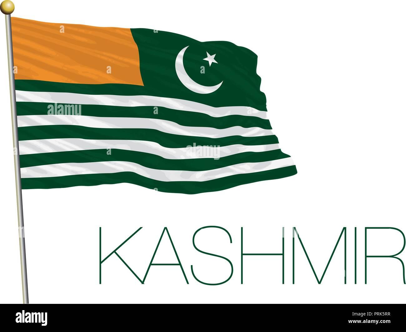 Kashmir flag, vector illustration - Stock Vector