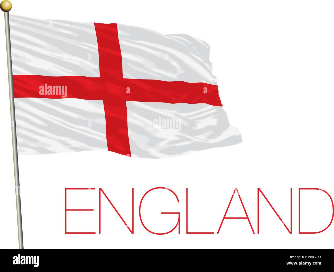 England official flag, vector illustration - Stock Vector