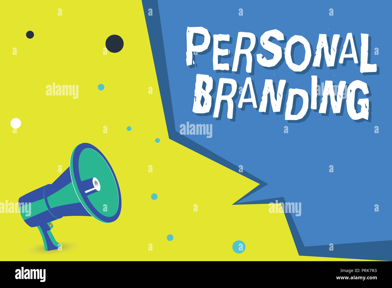 Word writing text Personal Branding. Business concept for Marketing themselves and their careers as brands. - Stock Image