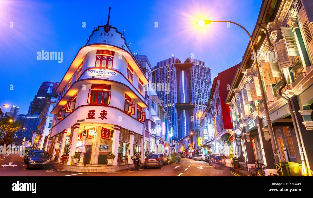 Singapore, Chinatown, Keong Saik Road Stock Photo