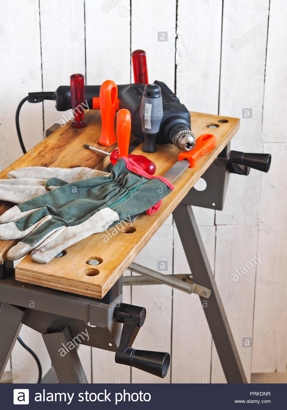 Tremendous Electric Drill With Assorted Accessories And Tools And Work Creativecarmelina Interior Chair Design Creativecarmelinacom