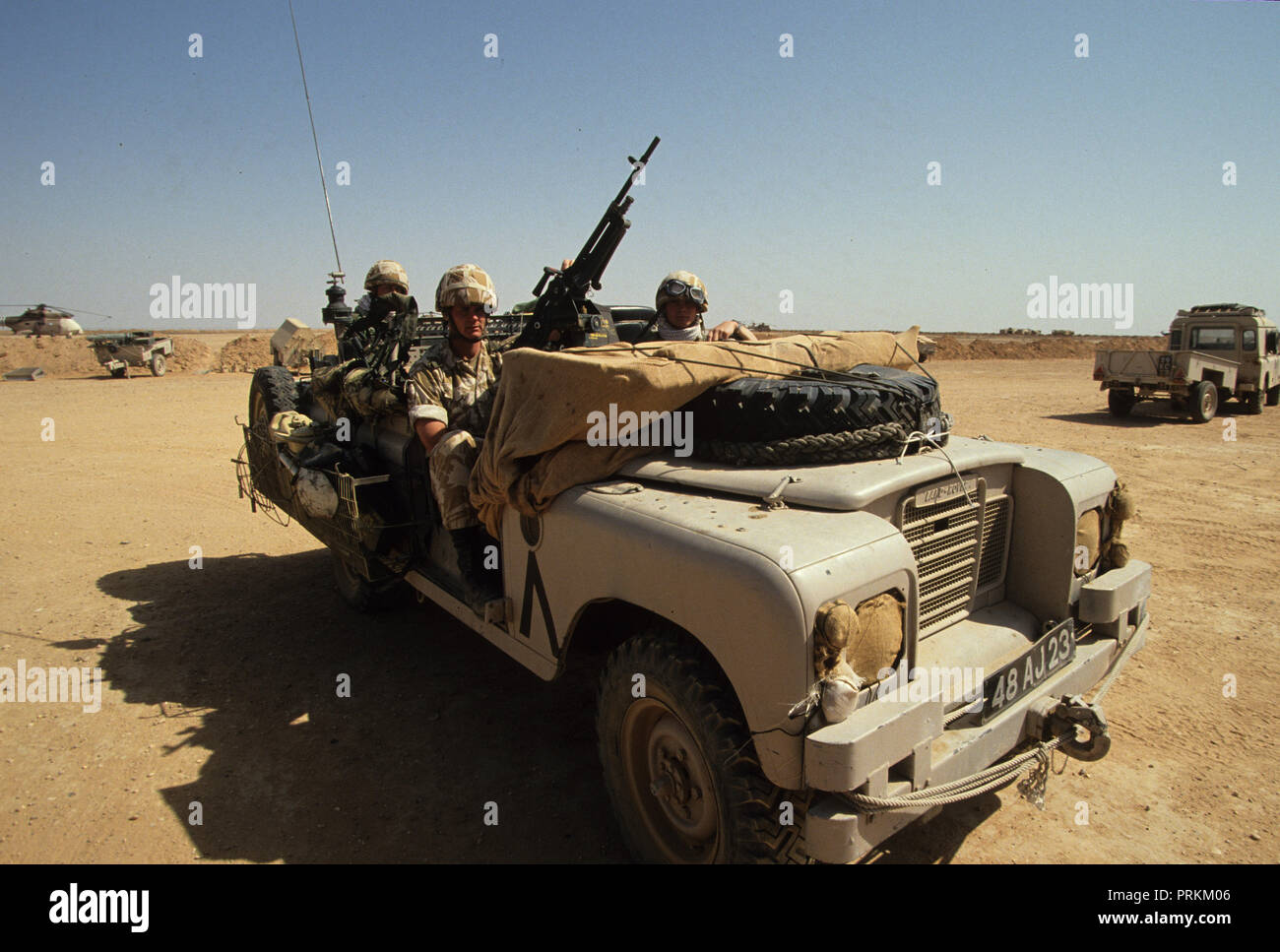 A Landrover used by the British forces during the first Gulf War  Photograph by Dennis Brack bb24 - Stock Image