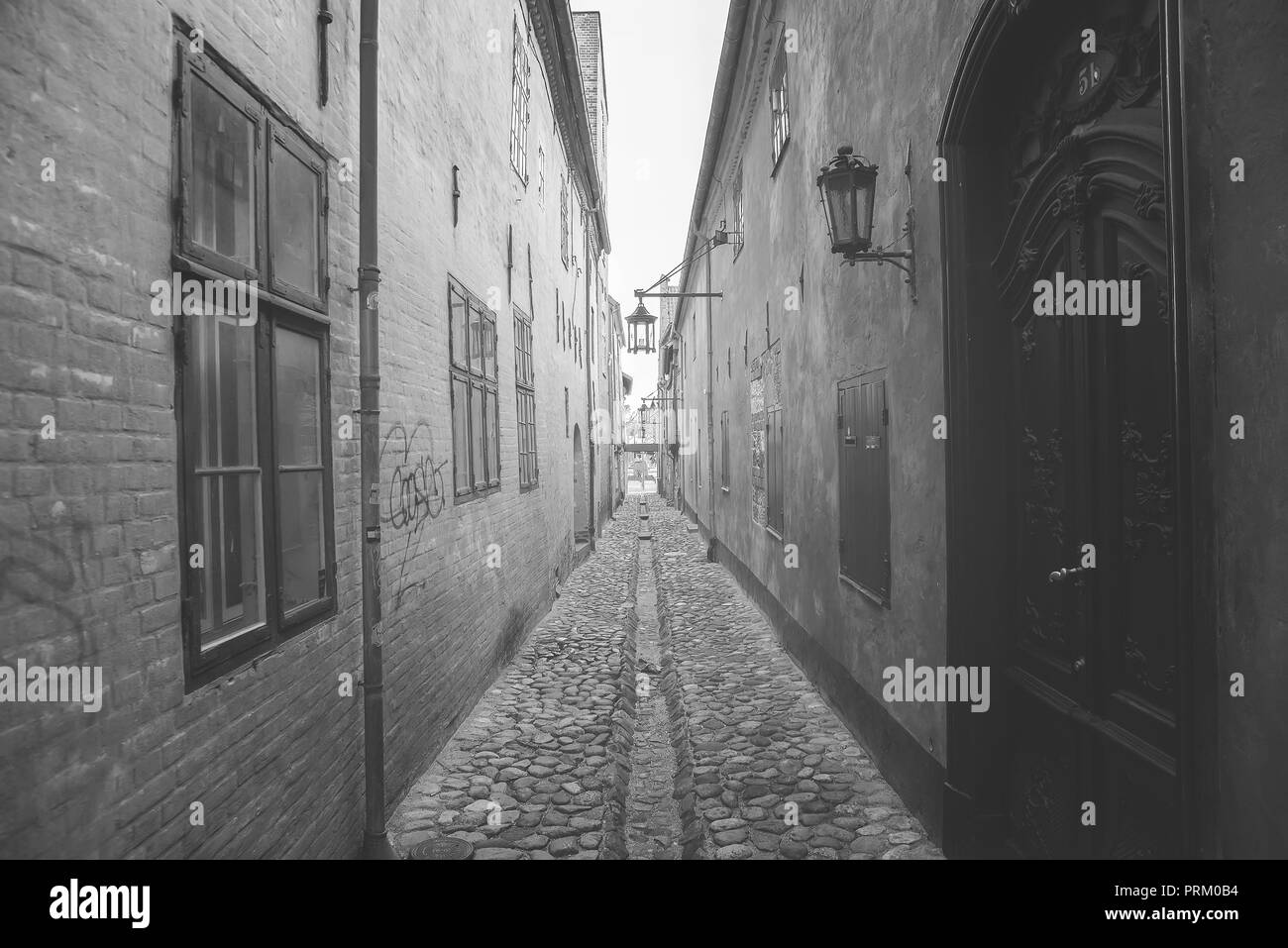 narrow old street  - Stock Image