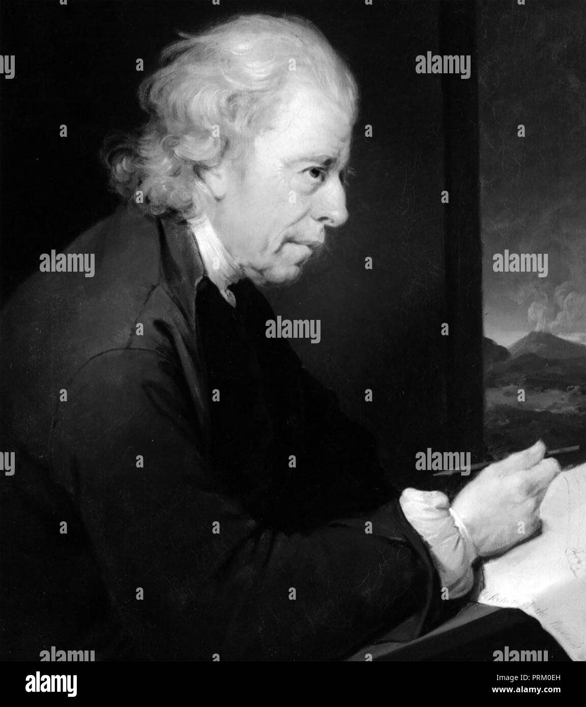JOHN WHITEHURST (1713-1788) English clockmaker, scientist,geologist - Stock Image