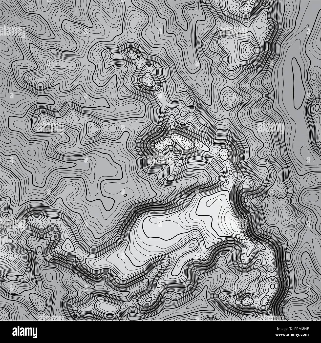 Topographic map background with space for copy . Line topography map contour background , geographic grid abstract vector illustration . Mountain hiki - Stock Vector