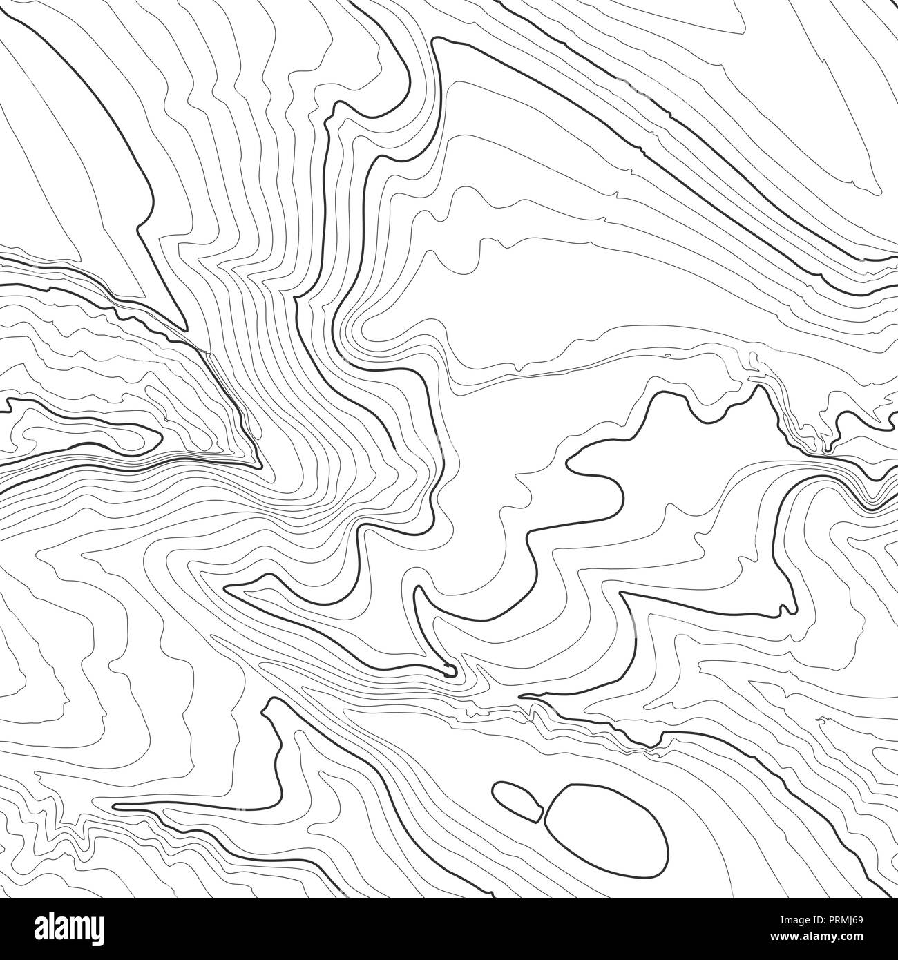 Topographic map background concept with space for your copy. Topography lines art contour , mountain hiking trail , Shape vector design. Computer generated . - Stock Image