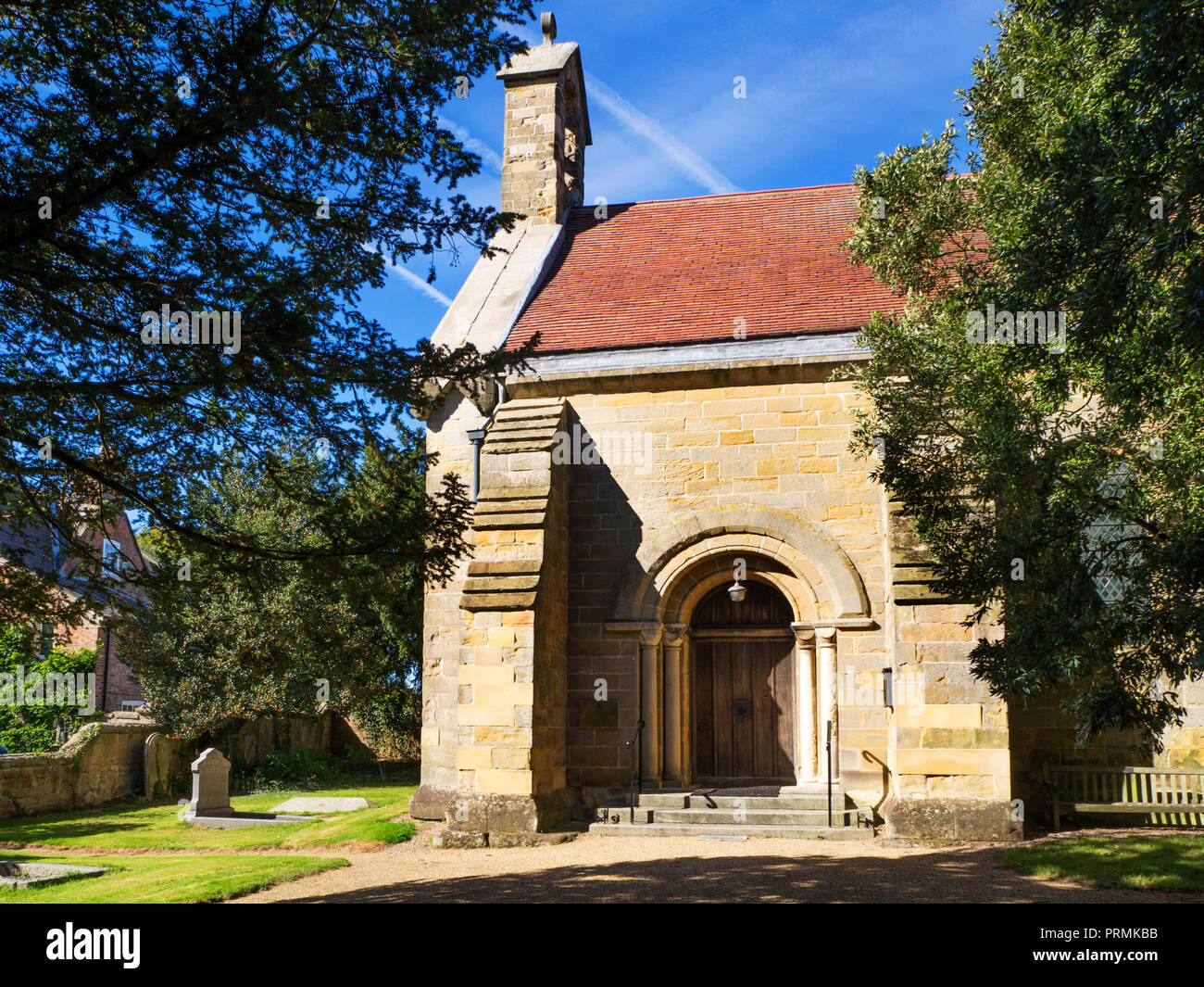 St Marys Churches Conservation Trust Church at Roecliffe near Boroughbridge North Yorkshire England - Stock Image