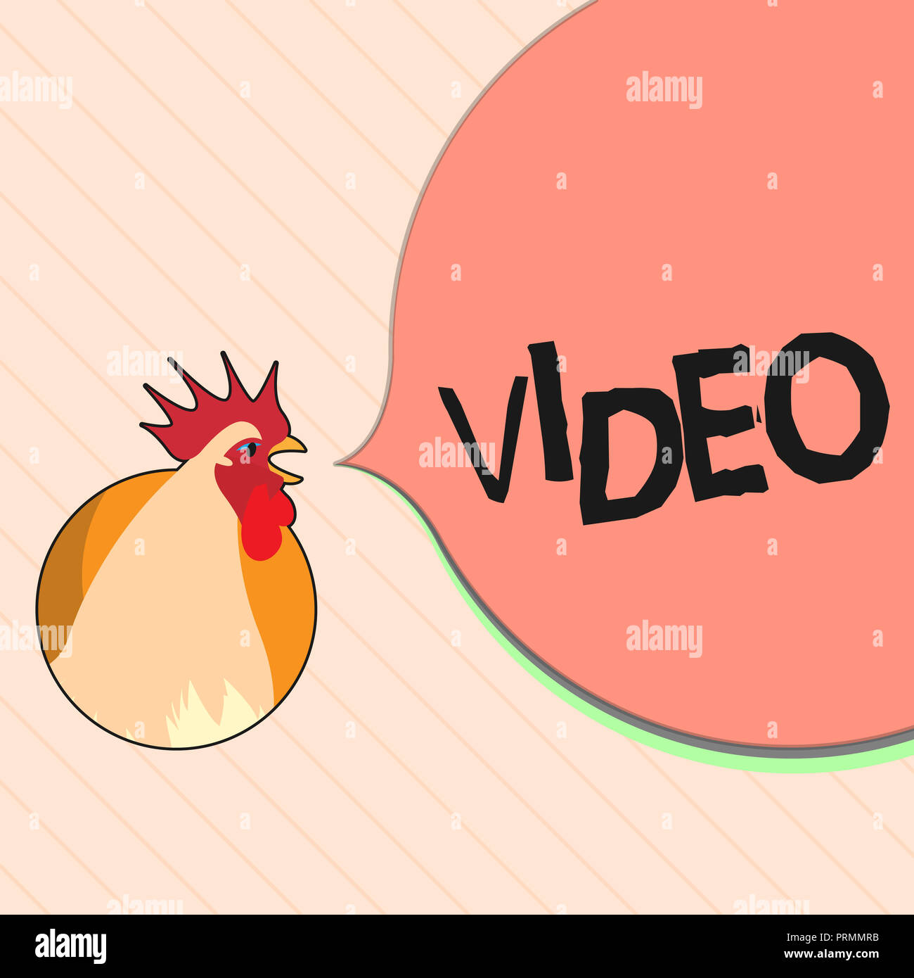 Word writing text Video. Business concept for recording reproducing or broadcasting of moving visual images. - Stock Image