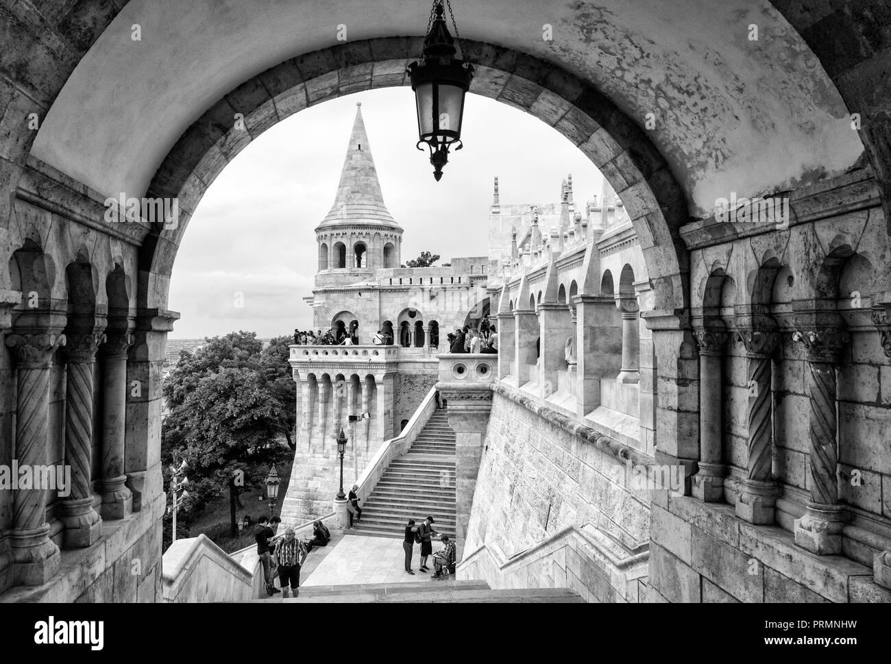 Fisherman's Bastion, Budapest, Hungary - Stock Image