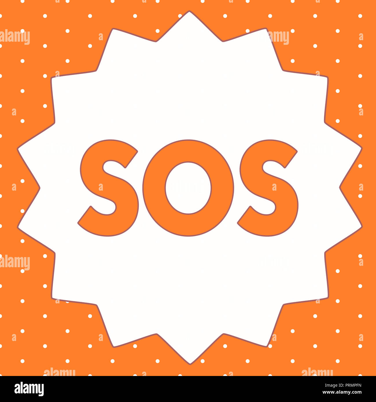 Conceptual hand writing showing Sos. Business photo showcasing Urgent appeal for help International code signal of extreme distress. - Stock Image