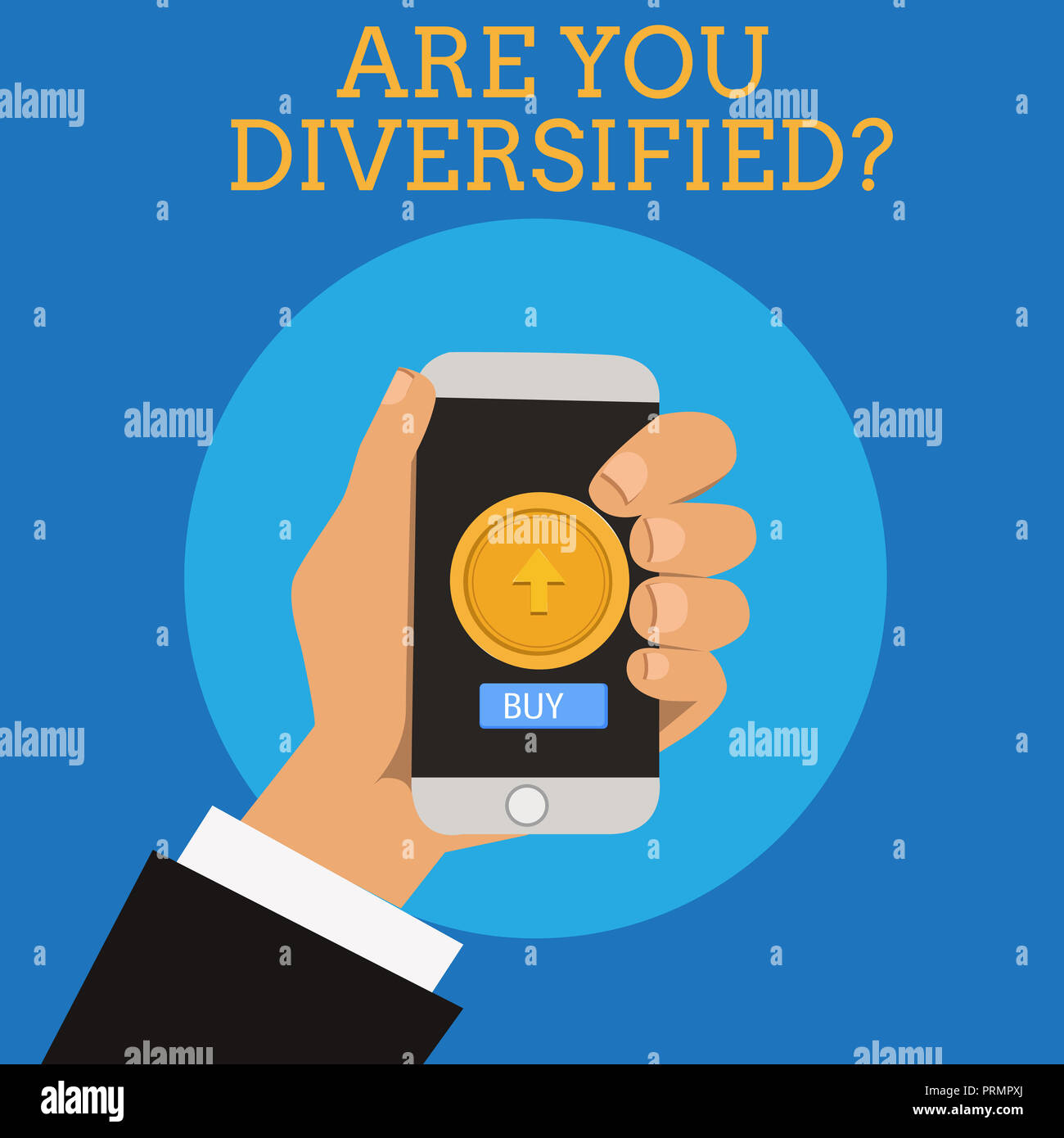 Text sign showing Are You Diversified question. Conceptual photo someone who is Different Mixed Multi Faceted. Stock Photo