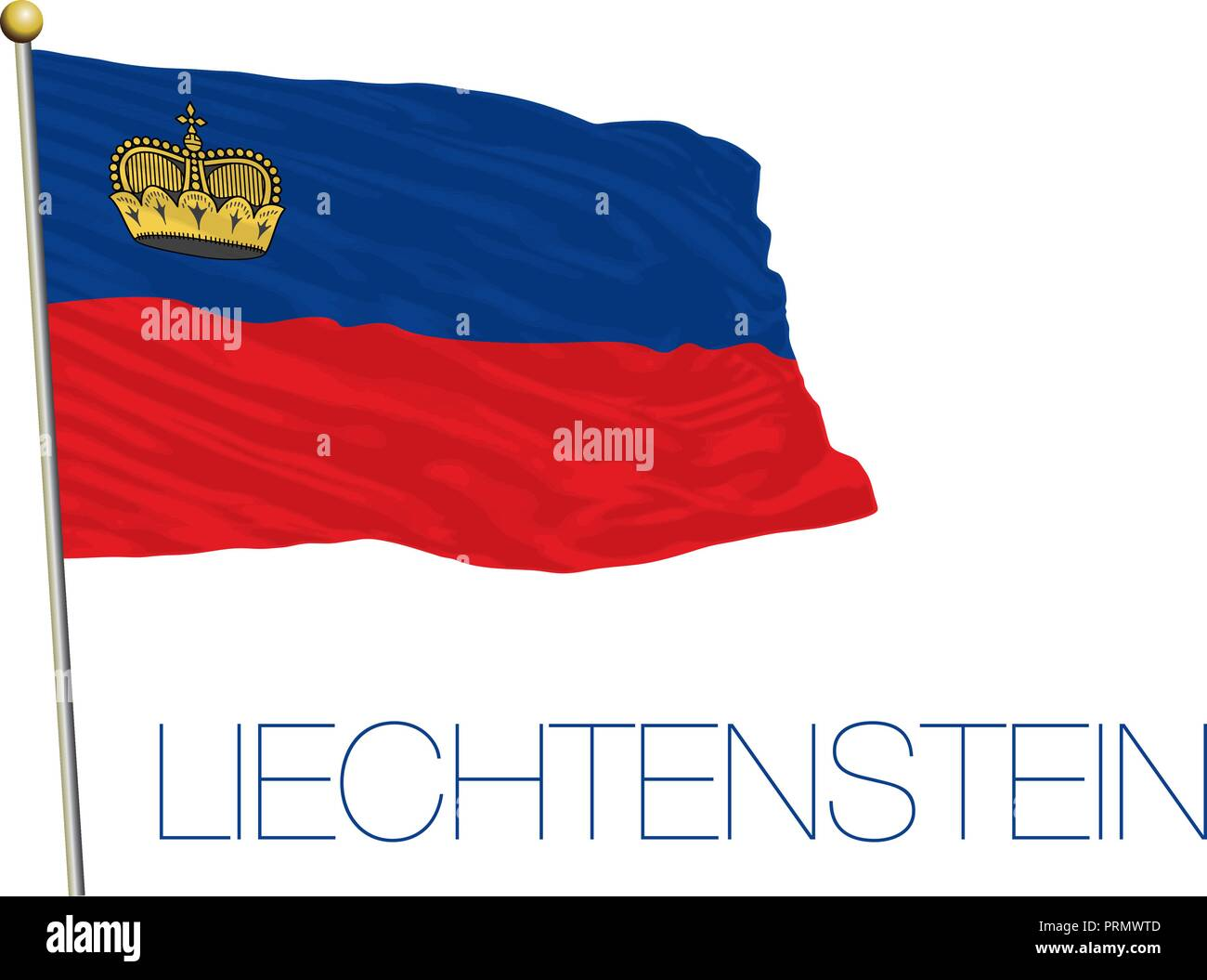 Liechtenstein official flag, vector illustration Stock Vector