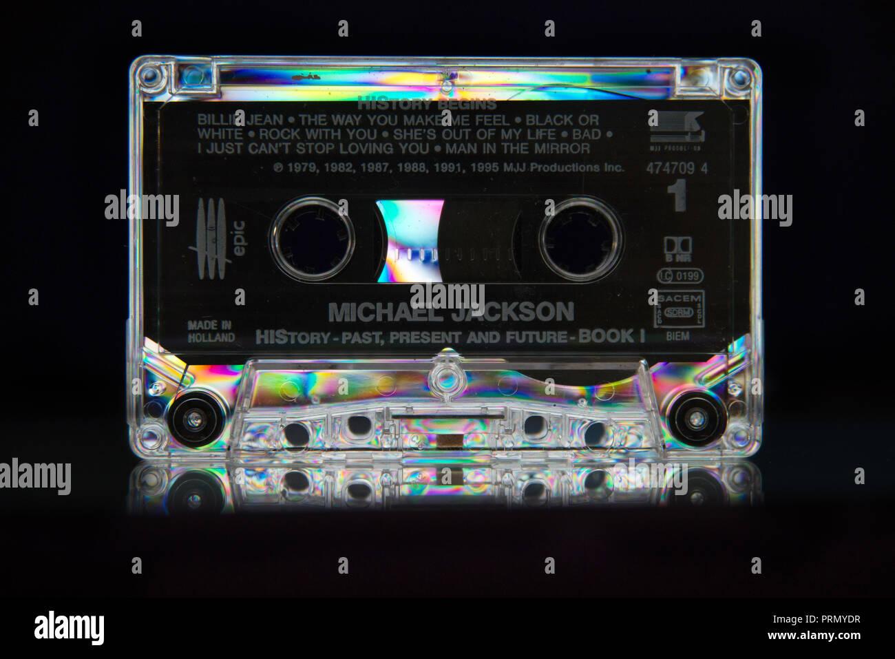 Michael Jackson History Cassette Tape - Stock Image