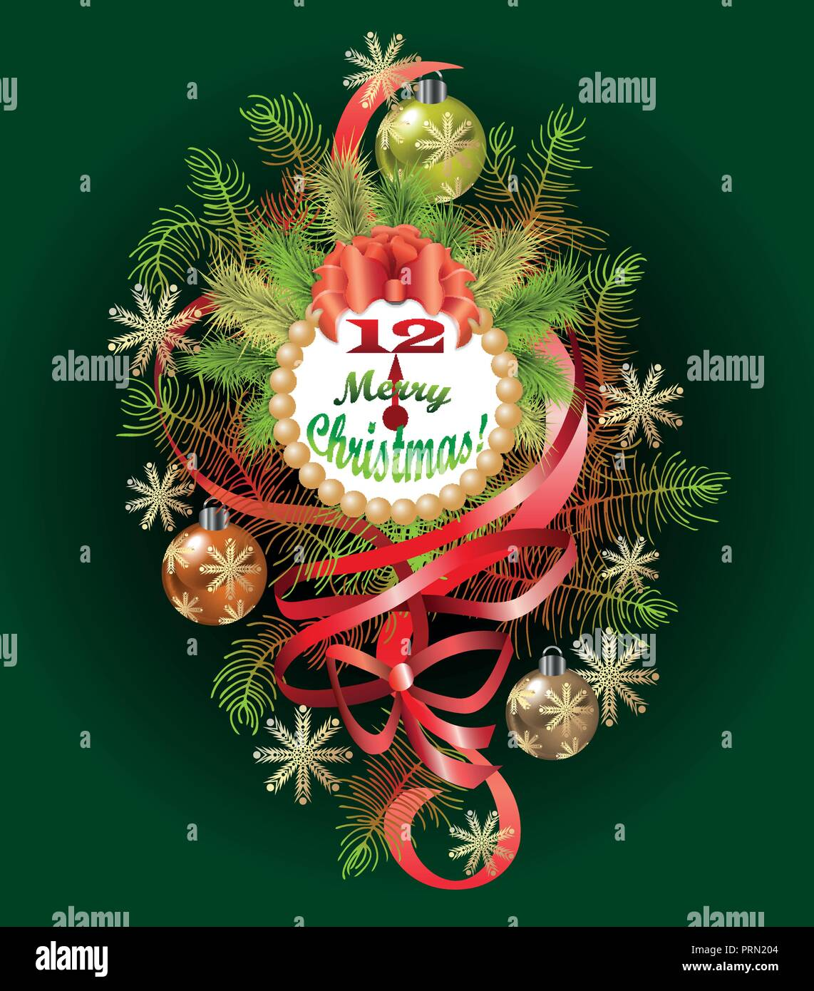 Typographical of the Background With Christmas Elements - Stock Image