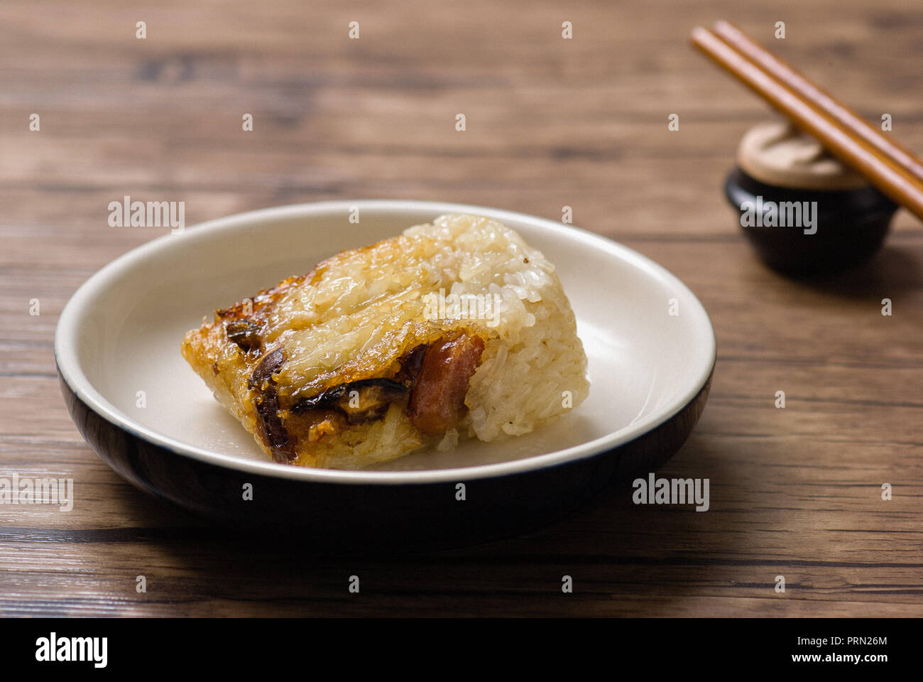 Food glutinous rice chicken Stock Photo