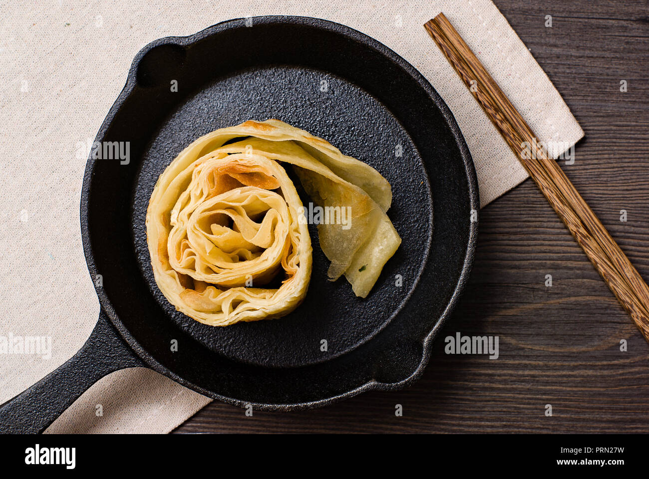 Food Chinese style egg pancake Stock Photo