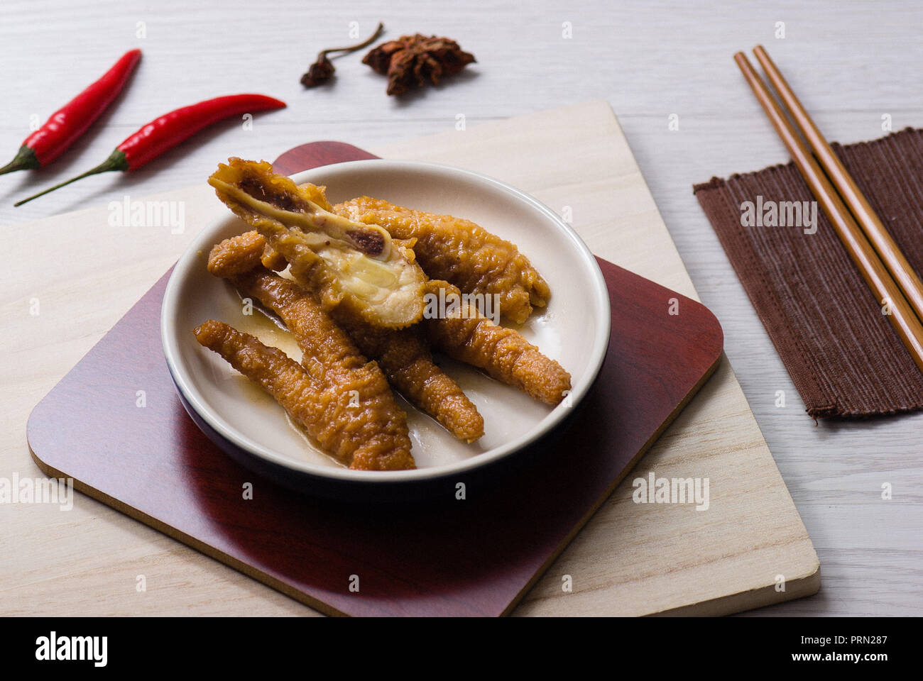 Food Dim Sum Chicken Feet Stock Photo