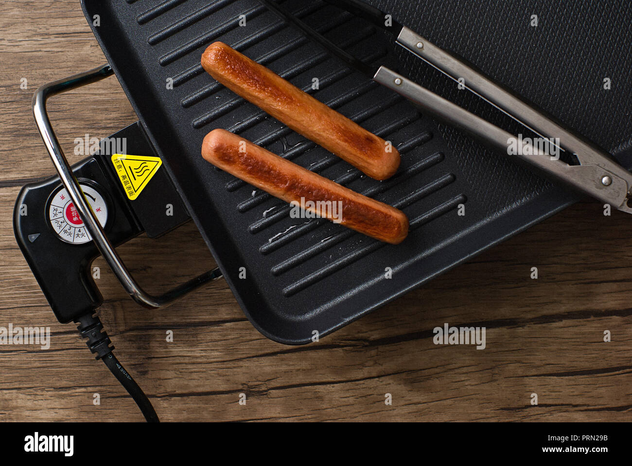 Food Chicken sausage Stock Photo