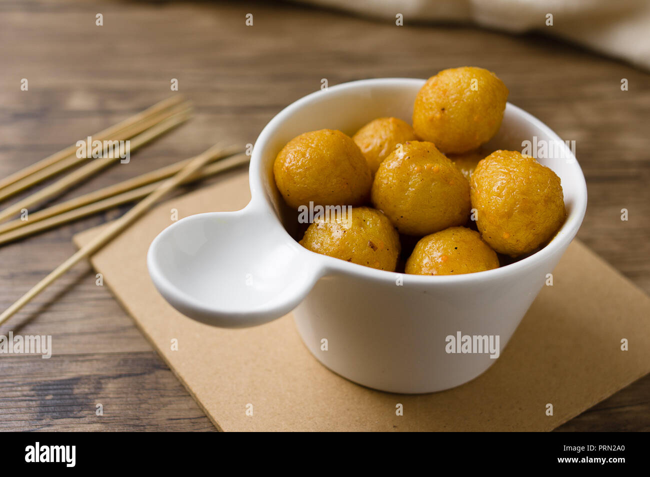 Food curry fish balls Stock Photo