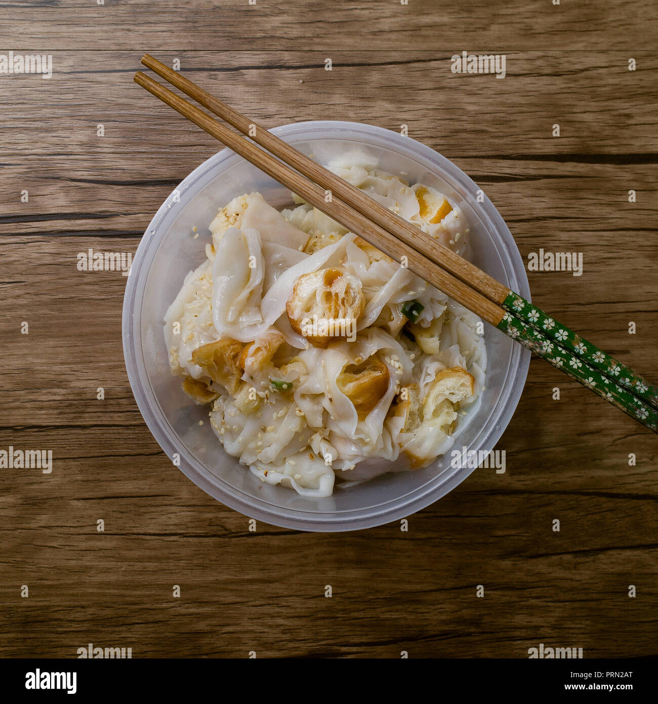 Food Steamed Vermicelli Roll Stock Photo