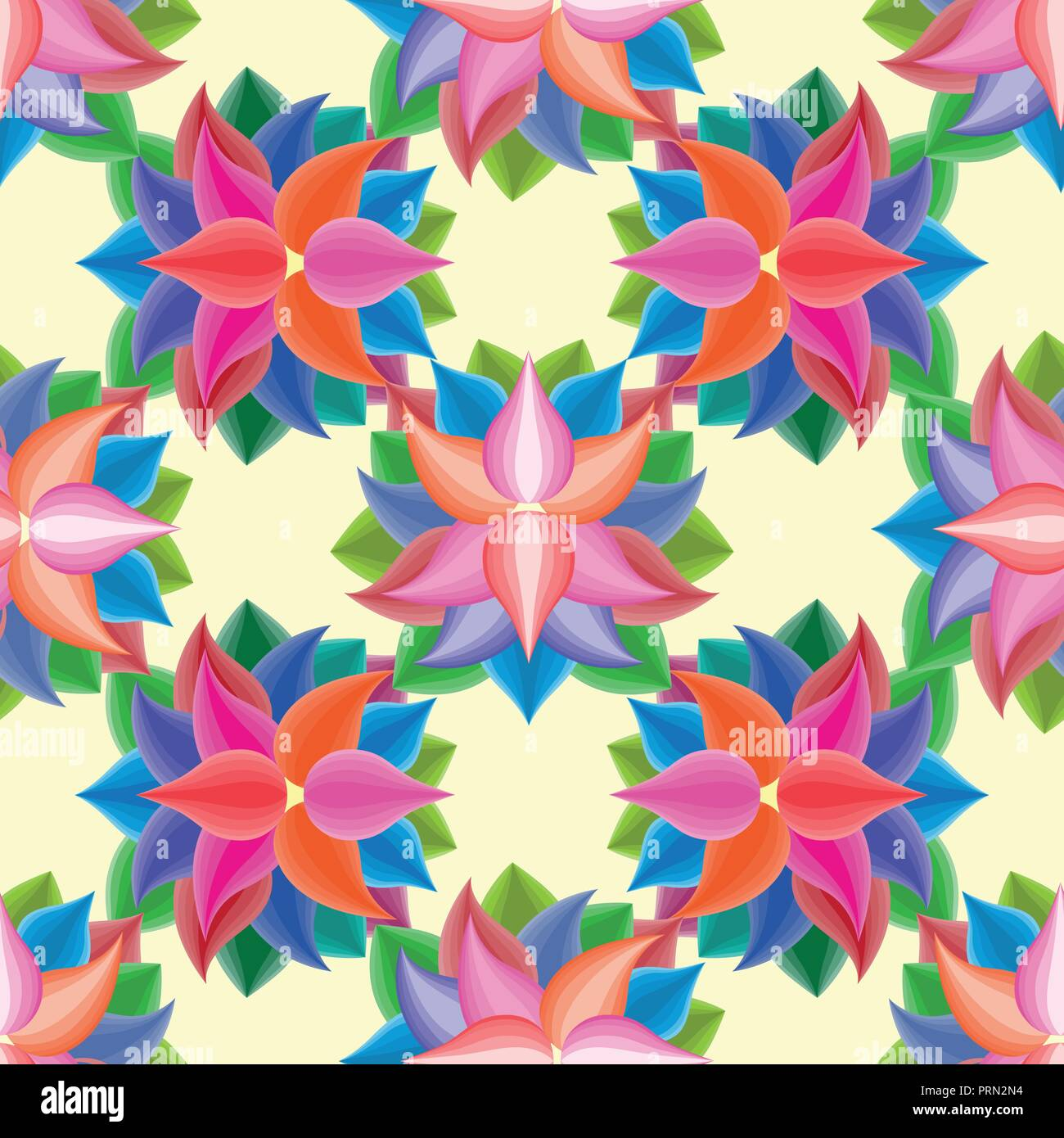 Abstract Seamless Pattern With Flowers Floral Wallpaper With Cute