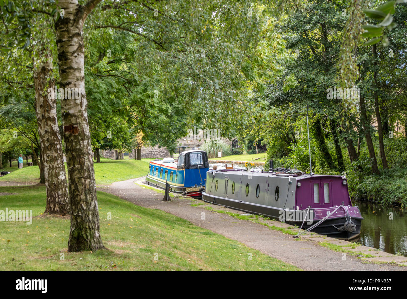 The Llangollen Canal at Trevor Basin, Wales, UK Stock Photo