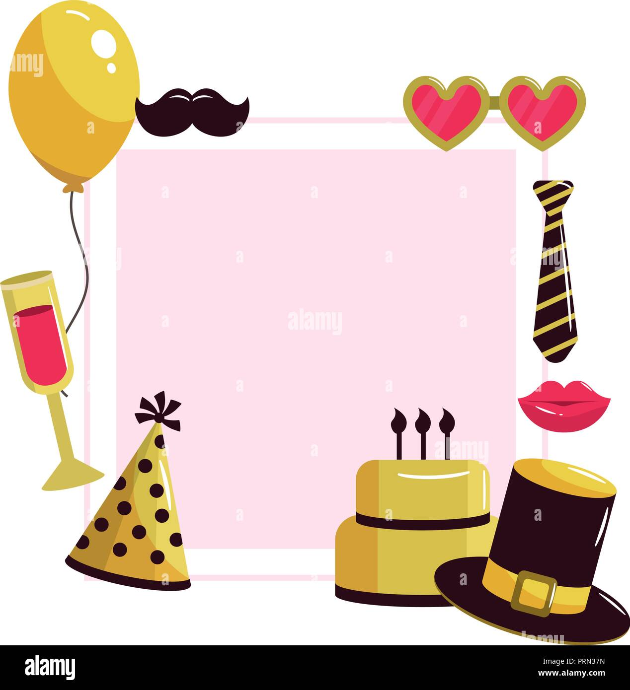 Happy Birthday Frame Stock Vector Art Illustration Vector Image