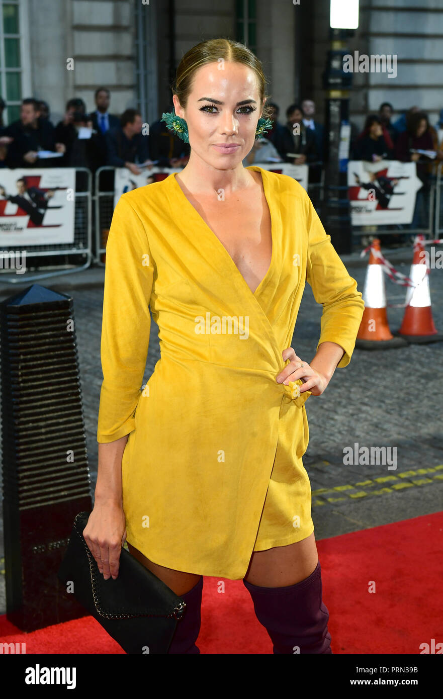 Emma Conybeare attending the Johnny English Strikes Again screening held at Curzon Mayfair, London. - Stock Image