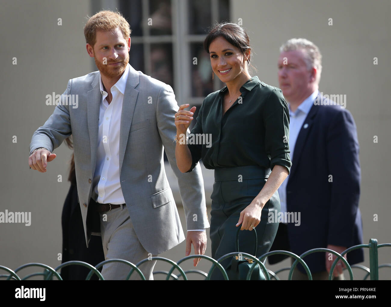 Brighton, UK, 3rd October 2018. The Duke and Duchess of Sussex visit the Royal Pavilion in Brighton :Credit James Boardman/Alamy Live News Stock Photo