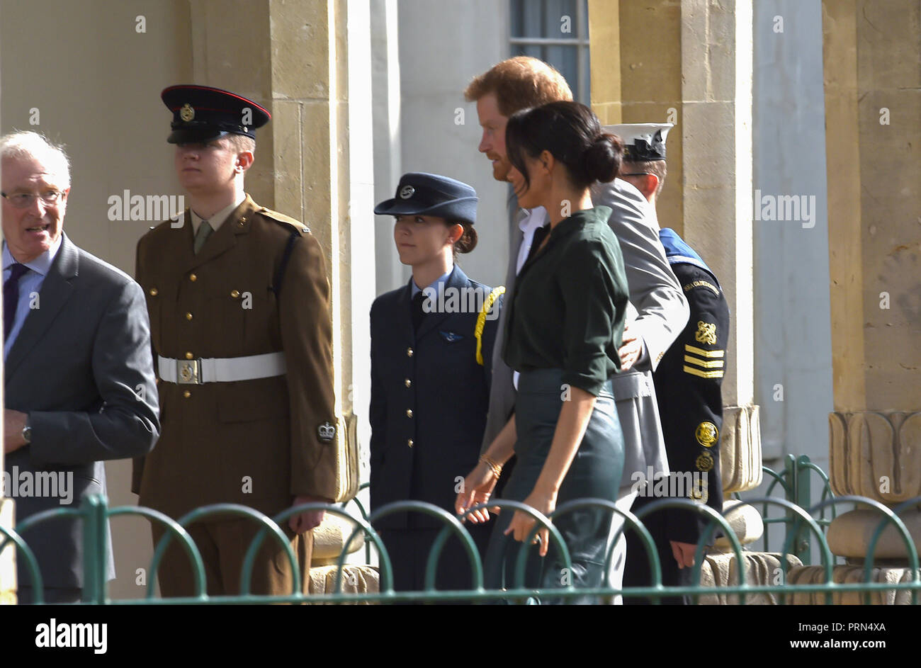 Brighton UK 3rd October 2018 - The Duke and Duchess of Sussex arrive at the Royal Pavilion in Brighton today as part of their first visit to the county where they have been to Chichester and Bognor as well as Brighton Credit: Simon Dack/Alamy Live News Stock Photo