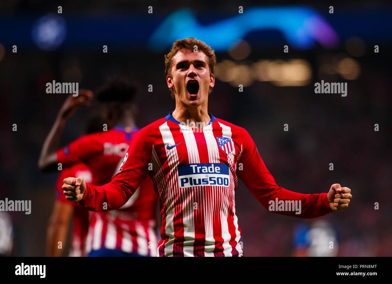 reputable site df327 0bcde Antoine Griezmann of Atletico de Madrid celebrates a goal ...