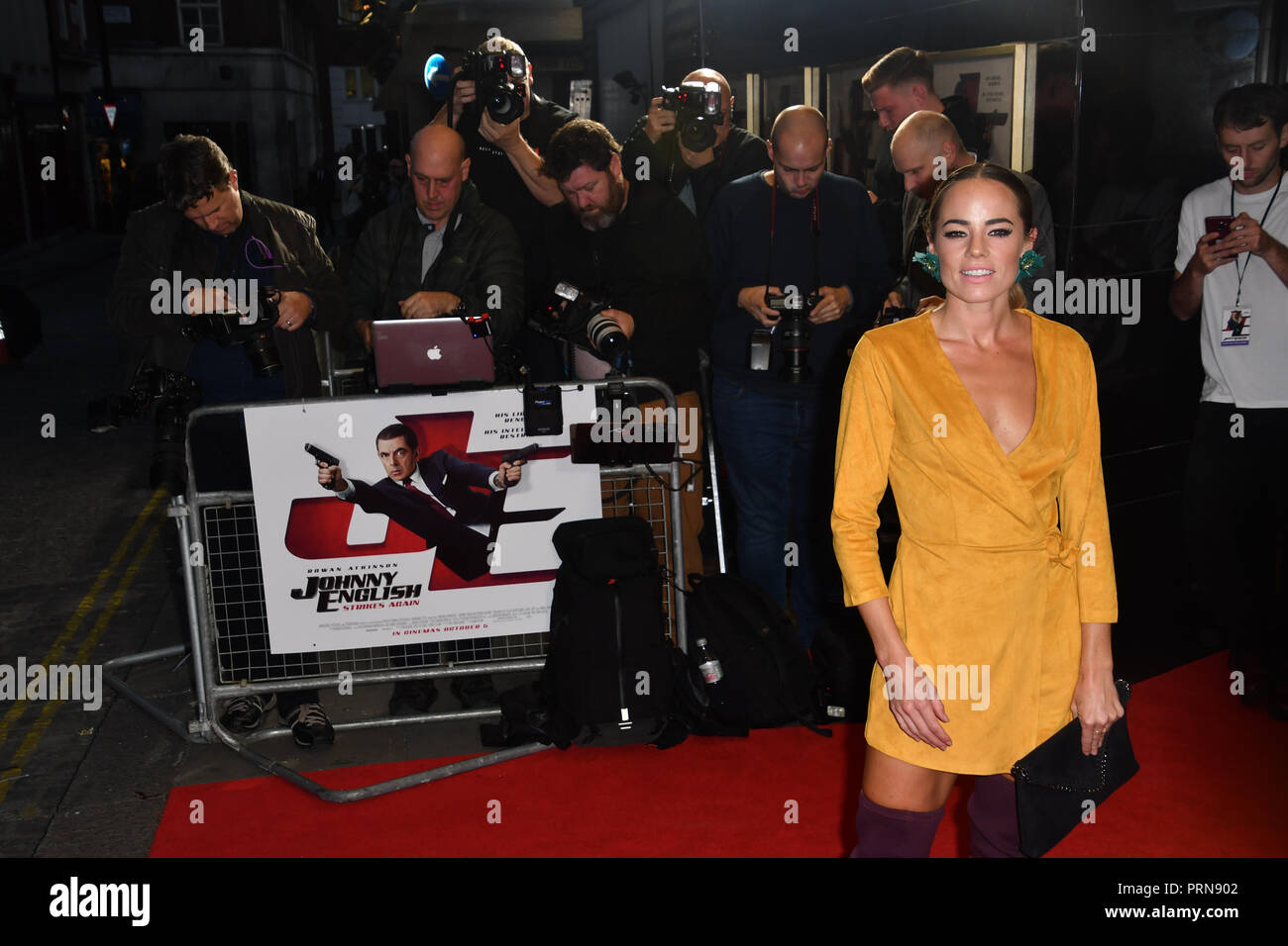 London, UK. 3rd Oct 2018. Emma Conybeare attend Johnny English Strikes Again at CURZON MAYFAIR, London, Uk. 3 October 2018. Credit: Picture Capital/Alamy Live News - Stock Image