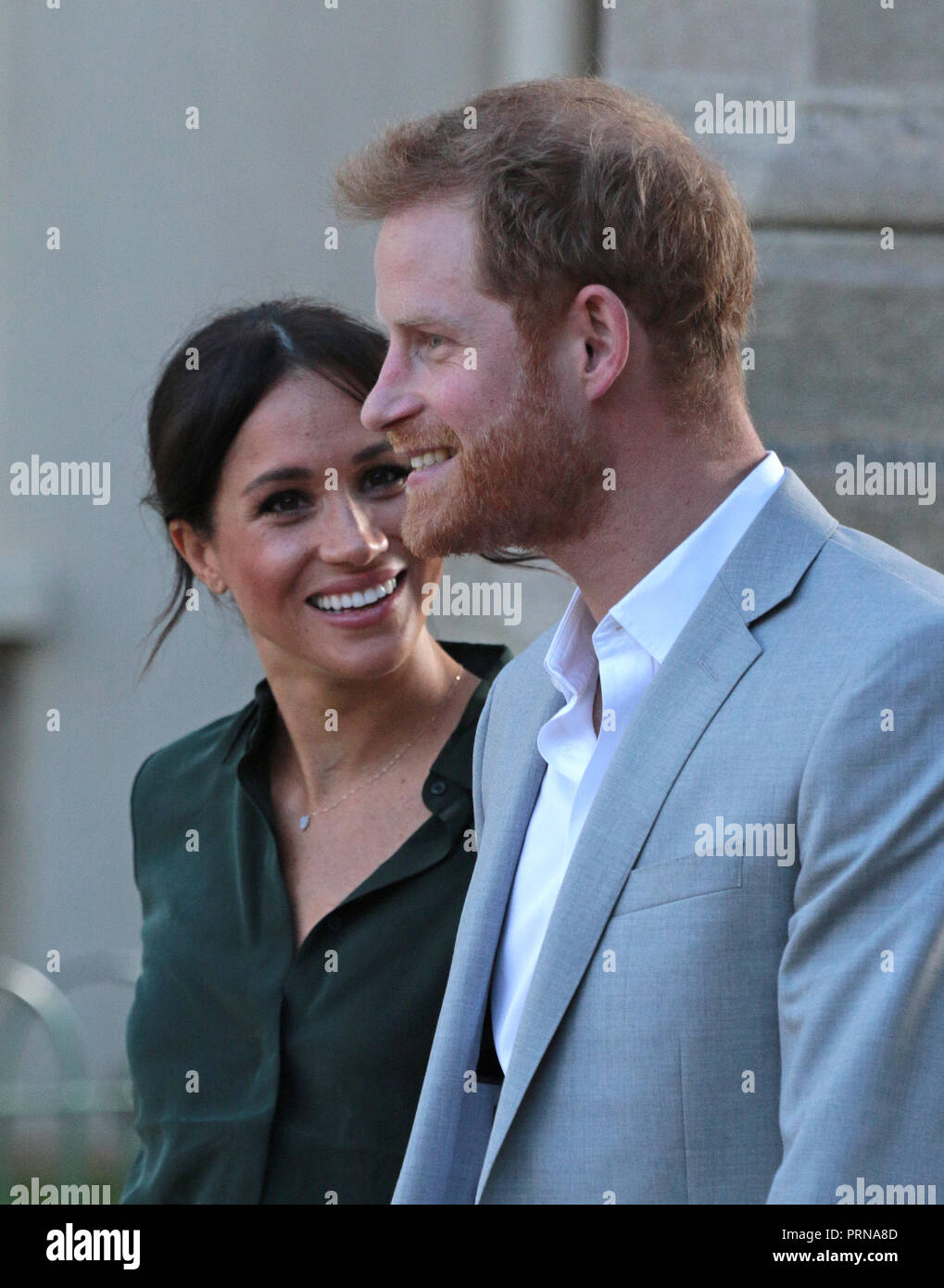 Chichester, Sussex , UK. 3rd October, 2018. Meghan Markle, Duchess of Sussex, and Prince Harry, Duke of Sussex, visit Chichester in Sussex, on their first joint visit to the County that inspired their royal titles. Prince Harry, Duke of Sussex, and Meghan Markle, Duchess of Sussex, visit Chichester, Sussex , on October 3, 2018. Credit: Paul Marriott/Alamy Live News Stock Photo