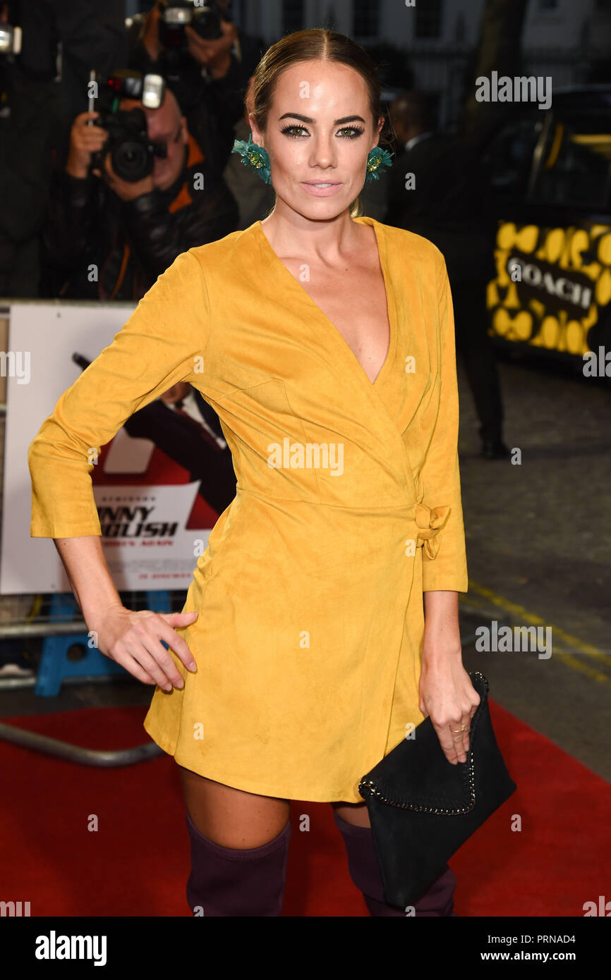LONDON, UK. October 03, 2018: Emma Conybeare at the premiere of 'Johnny English Strikes Again' at the Curzon Mayfair, London. Picture: Steve Vas/Featureflash Credit: Paul Smith/Alamy Live News - Stock Image