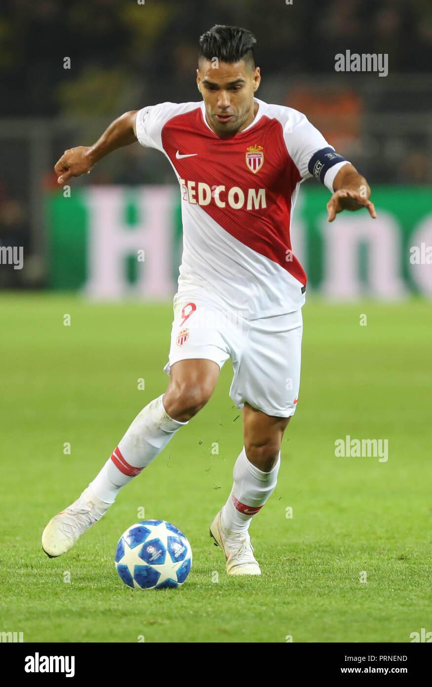Dortmund, Germany. 3rd October, 2018. Radamel Falcao (AS Monaco ...