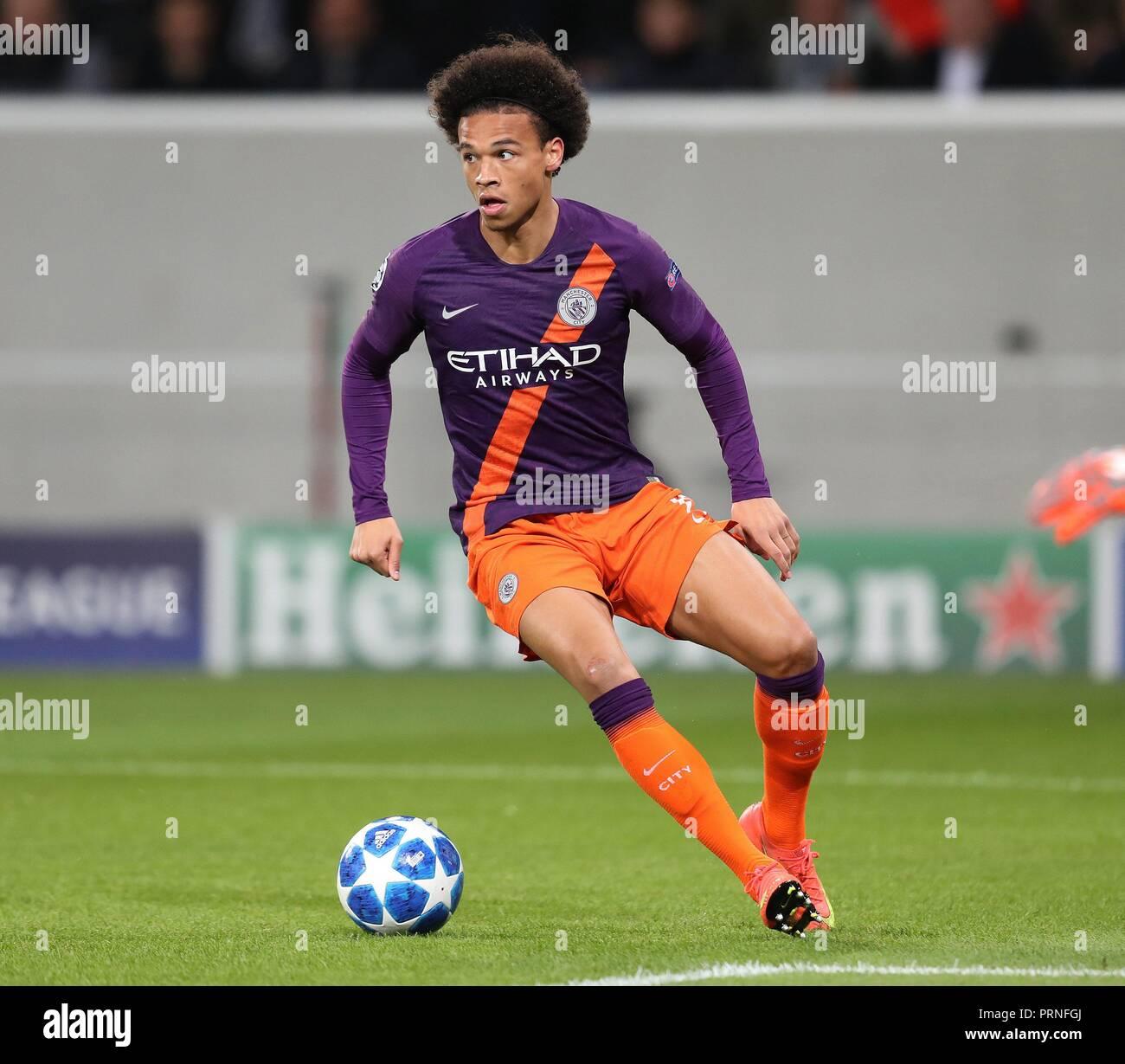 firo: 02.10.2018 Football, Football, Champions League: TSG Hoffenheim - Manchester City 1: 2 single action Leroy Sane   usage worldwide - Stock Image