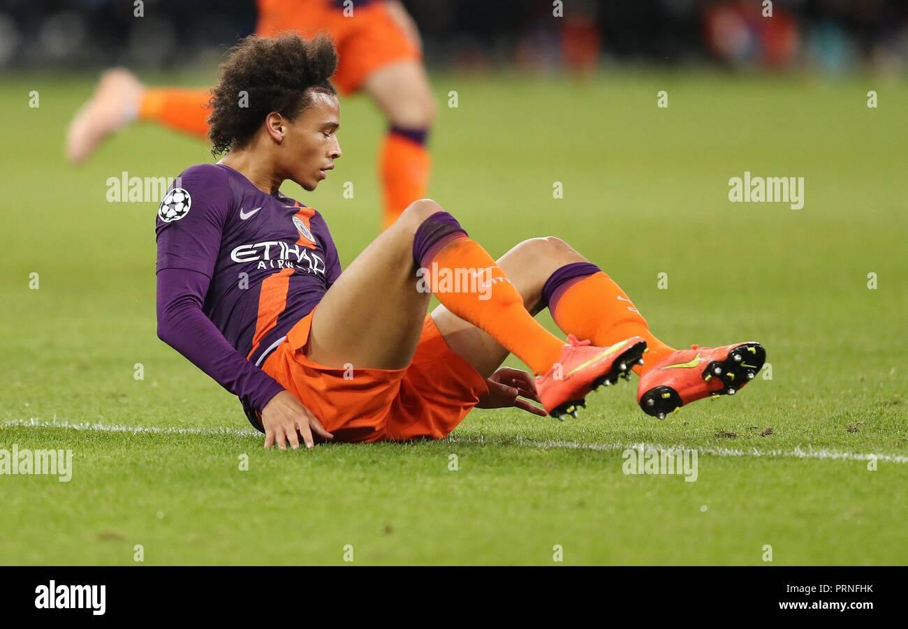firo: 02.10.2018 Football, Football, Champions League: TSG Hoffenheim - Manchester City 1: 2 gesture, ground, Leroy Sane,   usage worldwide - Stock Image