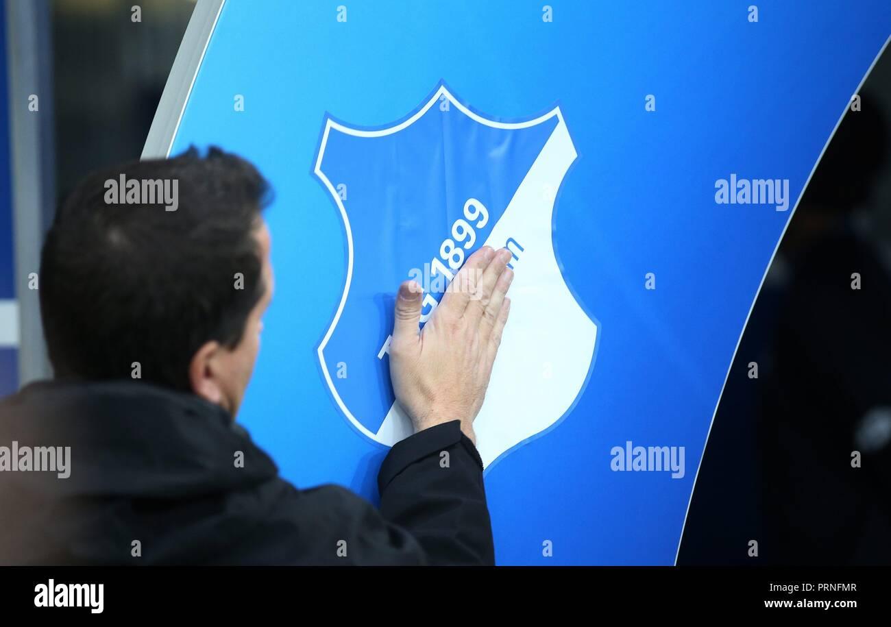 firo: 02.10.2018 Football, Football, Champions League: TSG Hoffenheim - Manchester City 1: 2, general, feature, depositor, logo,   usage worldwide - Stock Image