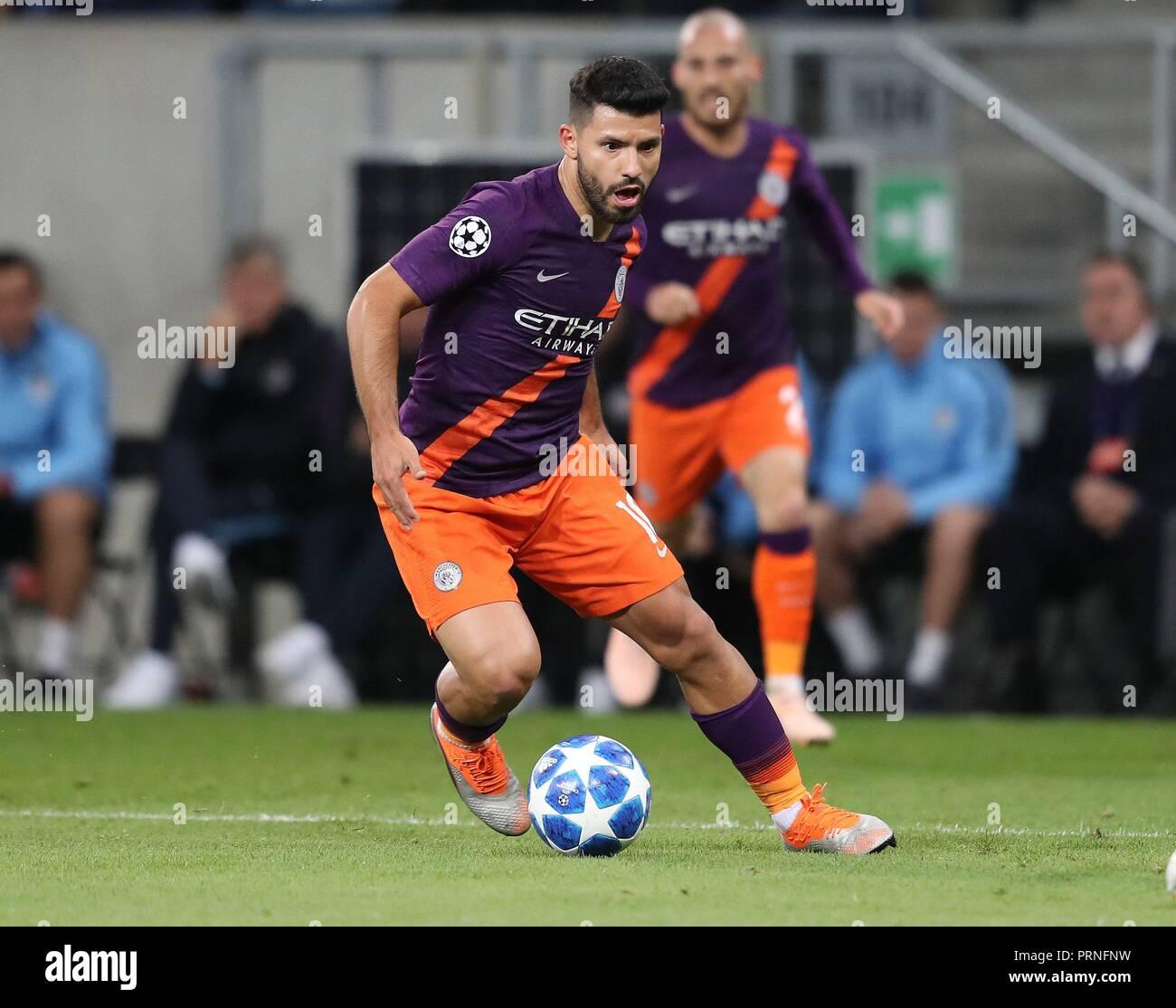 firo: 02.10.2018 Football, Football, Champions League: TSG Hoffenheim - Manchester City 1: 2 single action, Kun Aguero   usage worldwide - Stock Image