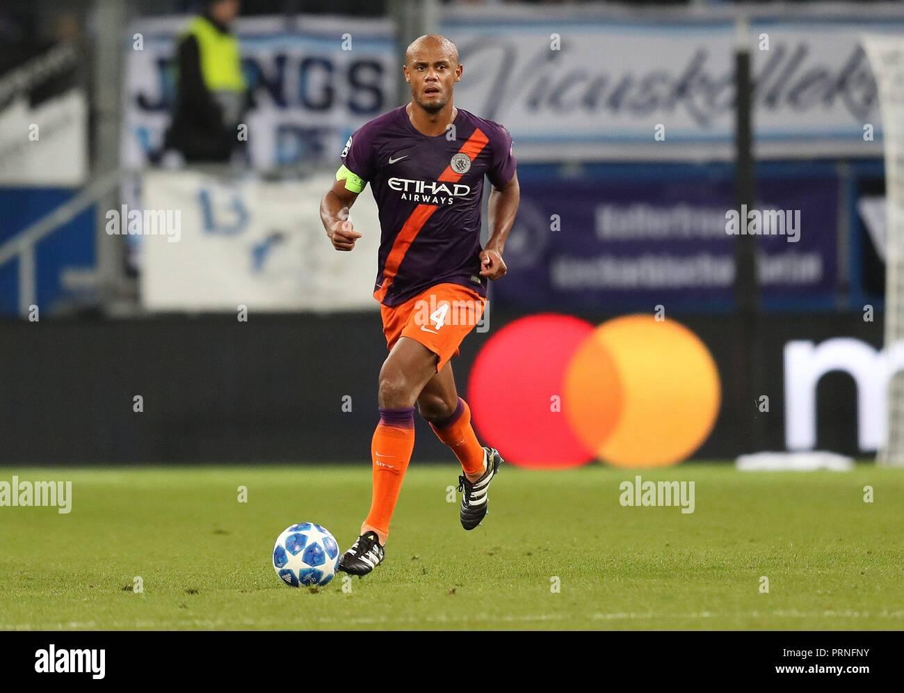 firo: 02.10.2018 Football, Football, Champions League: TSG Hoffenheim - Manchester City 1: 2 Vincent Kompany, single action   usage worldwide - Stock Image